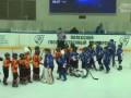 Драка юных хокеистов Беларуси и Украины