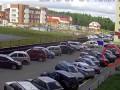 потому что кислый! в Сургуте с 8 этажа сбросили арбуз на иномарку