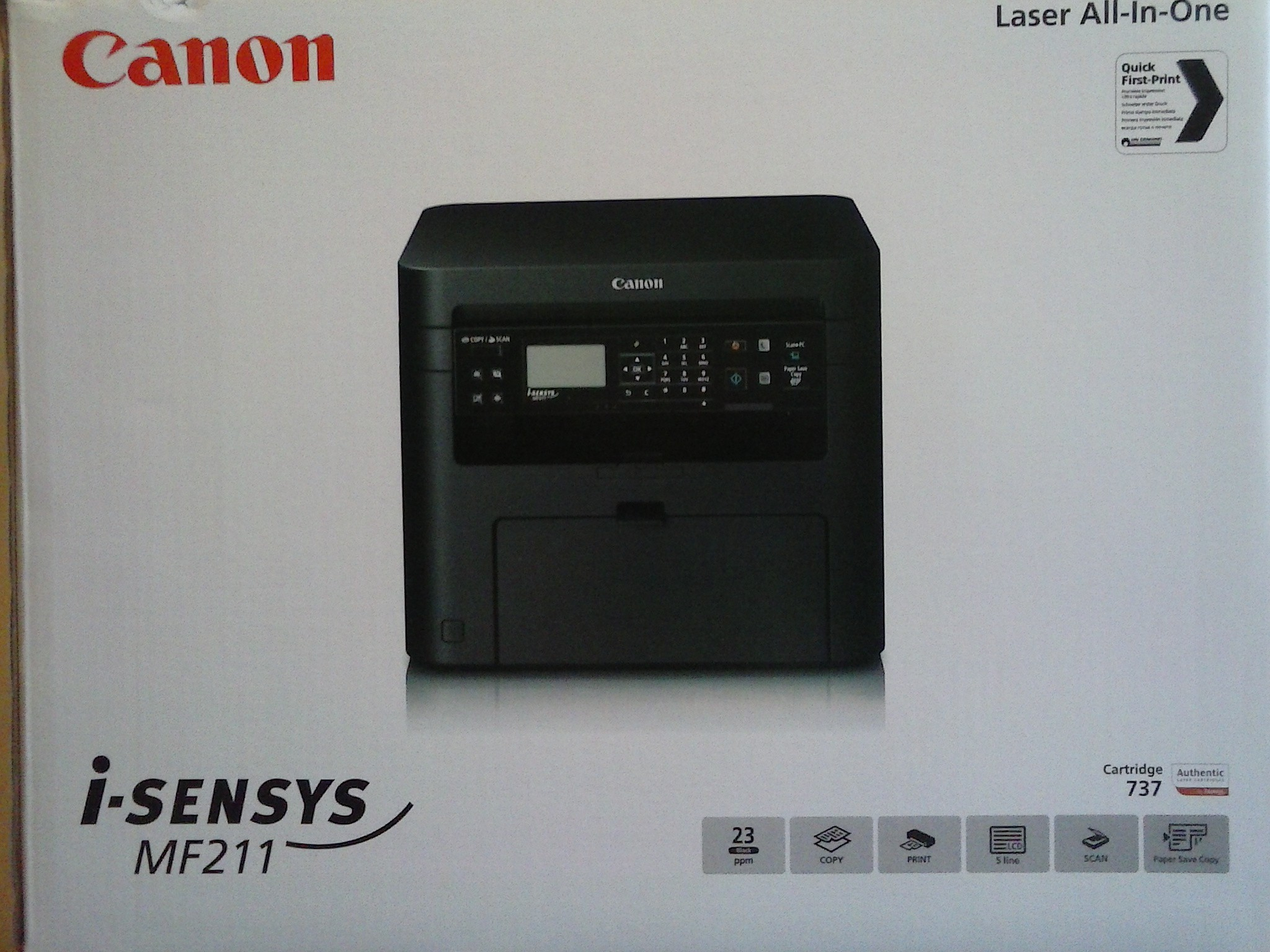 Canon i-sensys MF211 Laser ALL- In- One