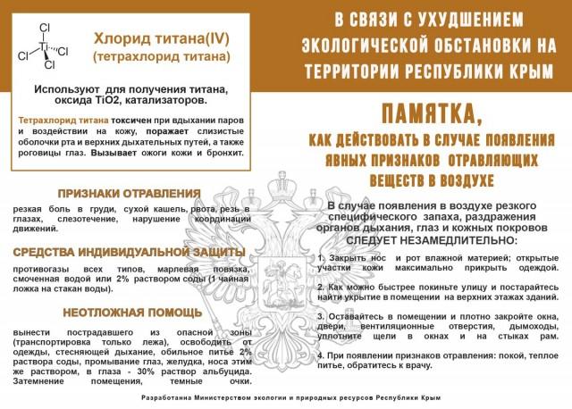 Памятка для жителей Крыма