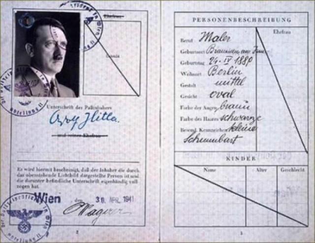 Паспорт гитлера