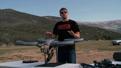 FPSRussia: Prototype Quadrotor with Machine Gun!
