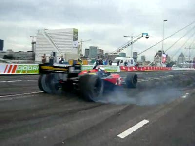 Robert Doornbos in Champcar at Bavaria City Racing 2007