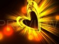 3D moving love heart animation video background 3