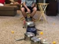 Ping-Pong Ball and Swinging Cup Trick Shot